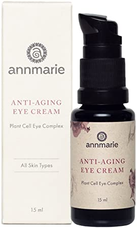 Annmarie Skin Care Anti-Aging Eye Cream – Soothing Eye Cream with Damas Rose and Sweet Iris Plant Cells, Cucumber Extract CoQ10 15ml 0.5 fl oz