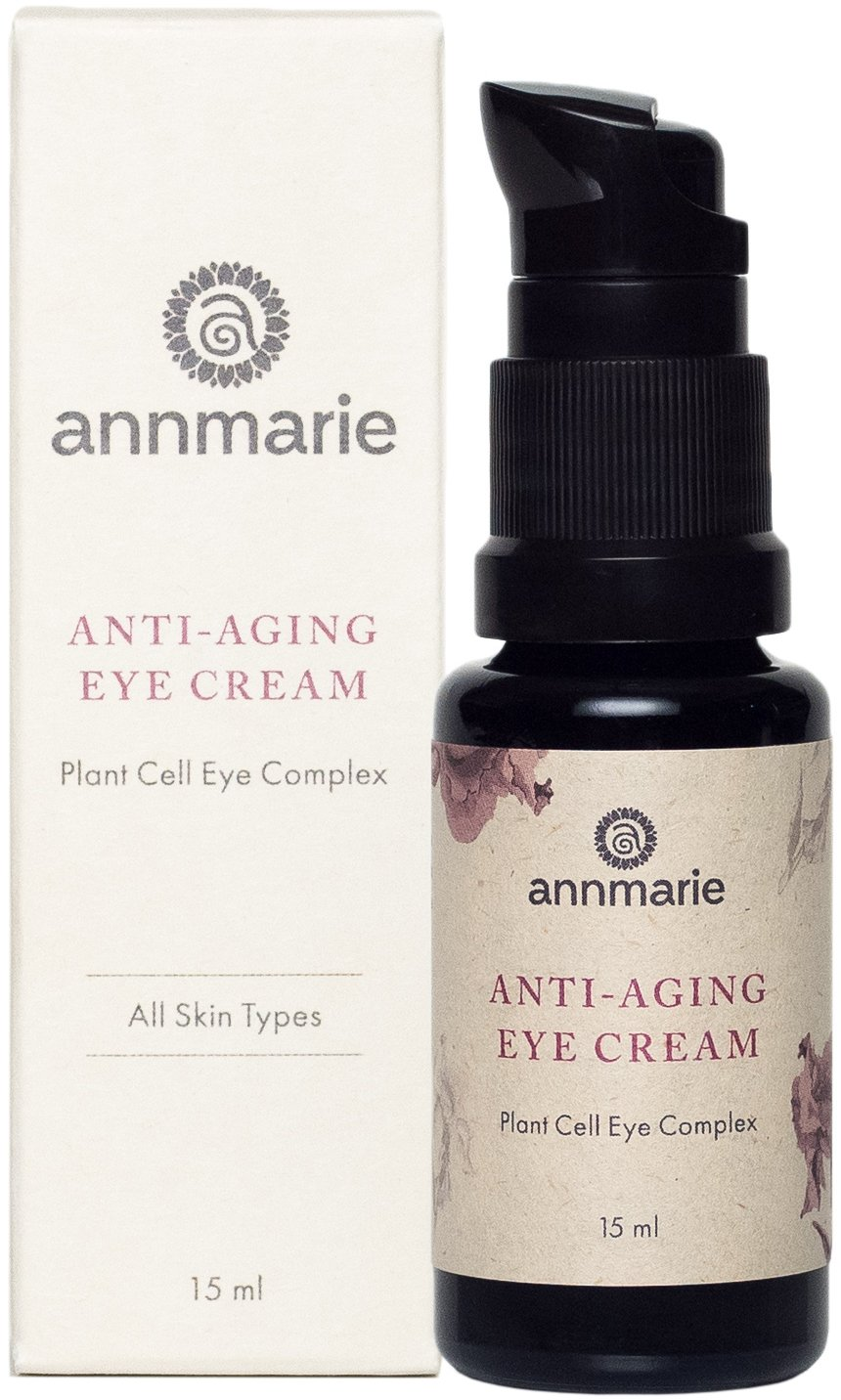 Annmarie Skin Care Anti-Aging Eye Cream - Hydrating Eye Cream with Rose and Sweet Iris Plant Cells, Cucumber Extract + CoQ10 - Soothing Organic Eye Cream Moisturizer for Puffiness (15 ml / 0.5 fl oz)