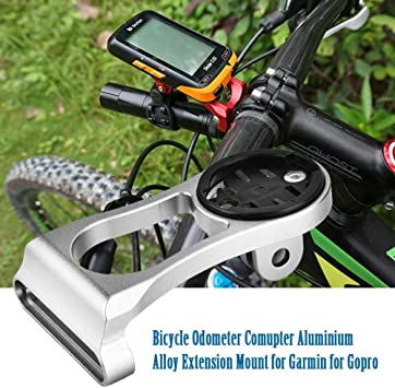 Bicycle Bike Computer Odometer Mount Alloy Lamp Action Camera Extension Holder