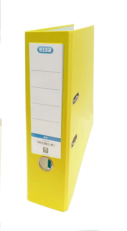 Elba Rado Top - Archivador palanca forrado en polipropileno/papel, A4, L80 mm, color amarillo: Amazon.es: Oficina y papelería
