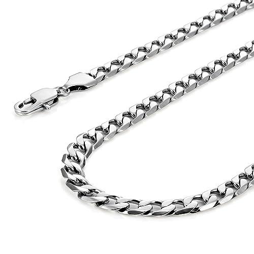 9df240e96254d5 Collana classica da uomo, in acciaio inossidabile 316L, colore argento, 46,  54