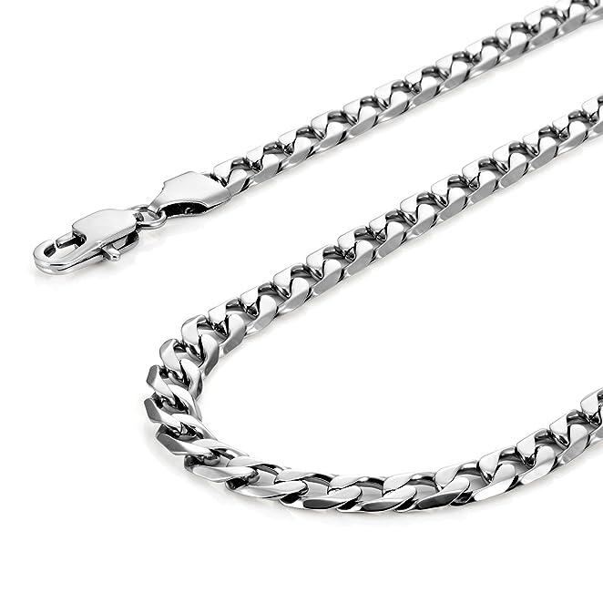 10 opinioni per Classica collana da uomo 316L in acciaio inox catena in argento colore 46, 54,