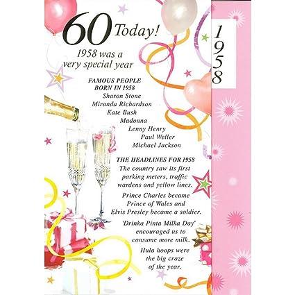 Sexagésimo 60th Tarjeta de cumpleaños