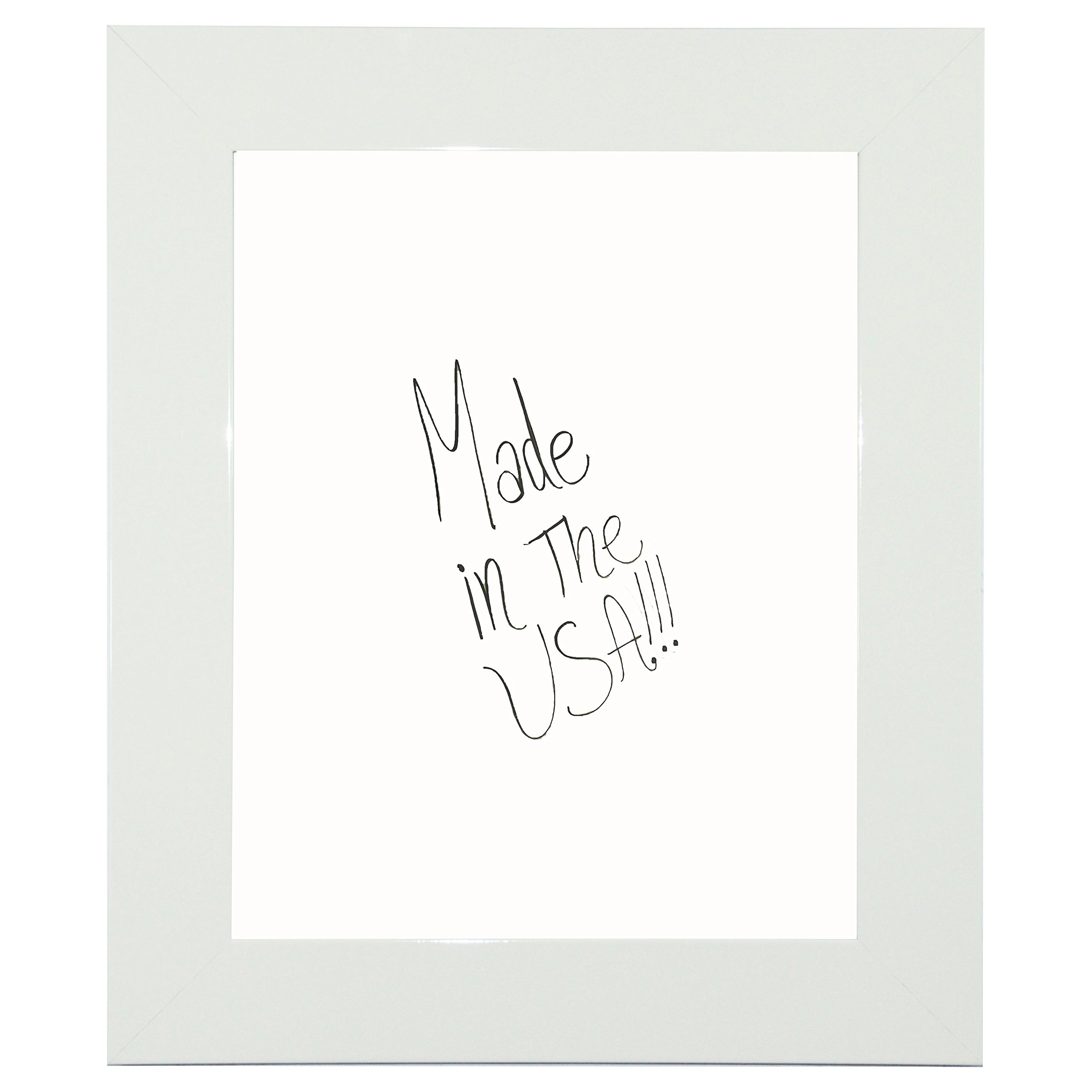Rayne Mirrors American Made Rayne Delta White Dry Erase Board Exterior Size: 42 x 42