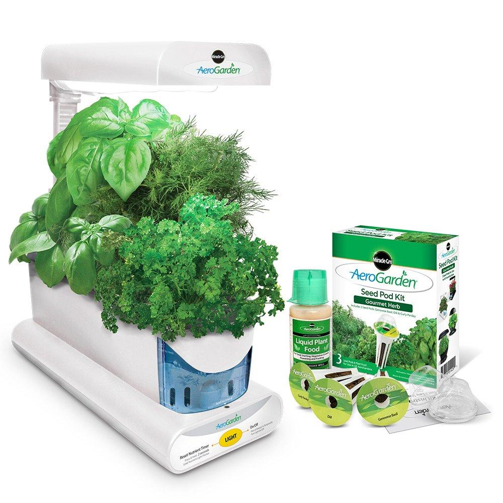 AeroGarden Sprout with Gourmet Herb Seed Pod Kit, White by AeroGrow