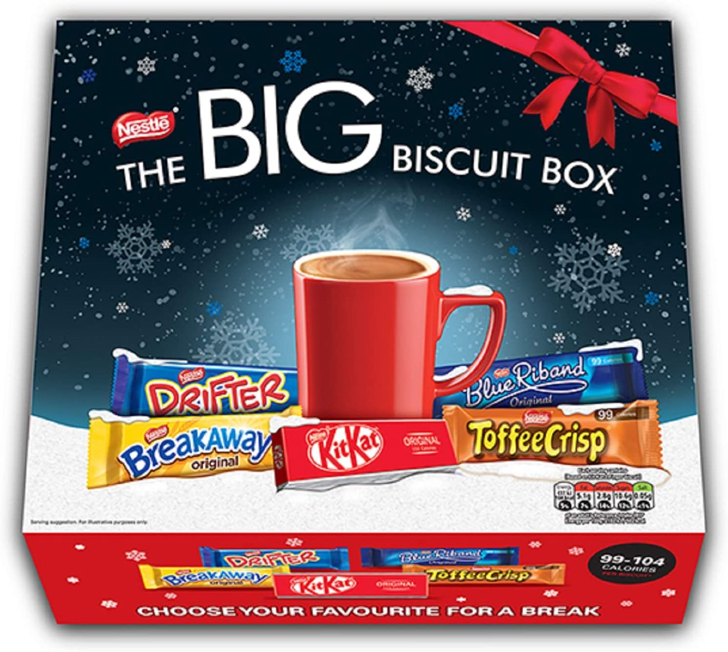 Nestlé Nl47423 The Big Biscuit Box 70 Chocolate Biscuit Bars