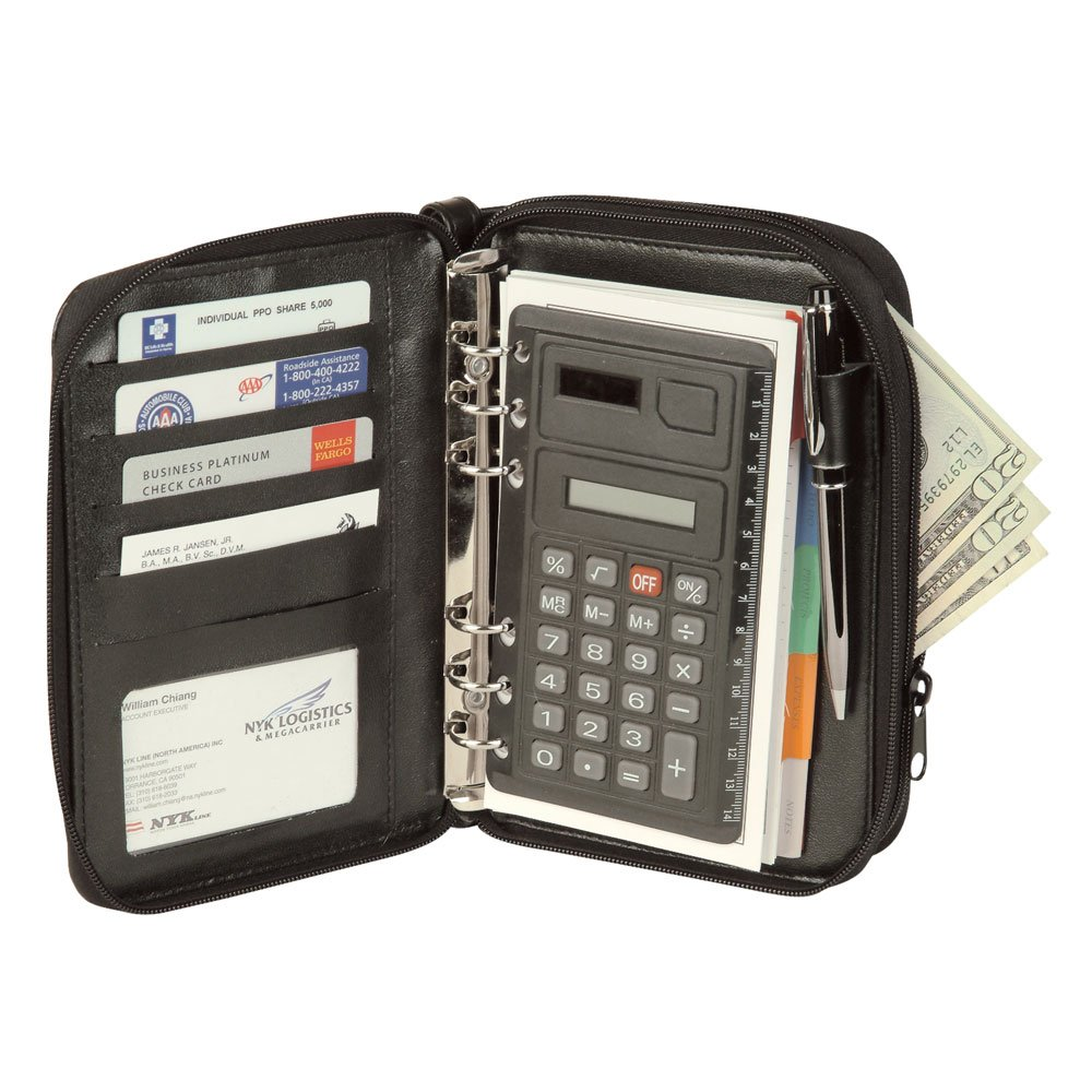 NuFazes Mid-Sized Binder with Calculator and File System Planner (Organizer)