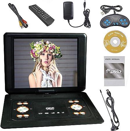 EVD DVD Portátil De Gran Tamaño, Reproductor De 14,1 Pulgadas con TV/FM / / Función Gaming