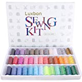 Luxbon 39 Spools Rainbow Polyester Sewing Thread Box Kit Set Ideal for Quilting Stitching/Hand Sewing/Machine Sewing