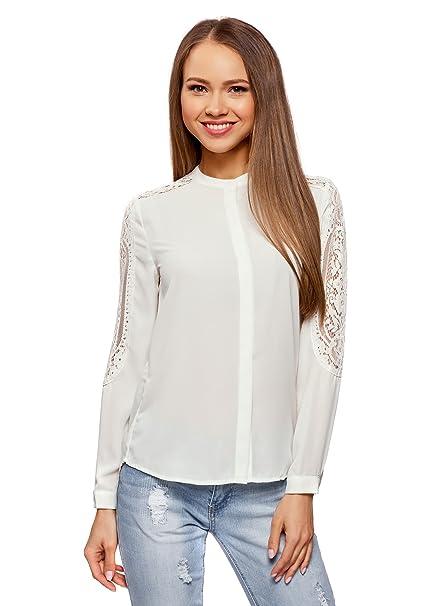 Blusa holgada con acabado de encaje. Muy suave y original. Opción de colores.