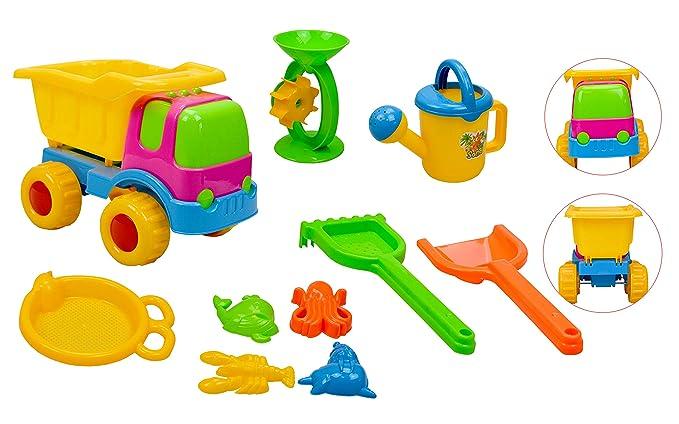 Set de 10 juguetes para playa o caja de arena para niños: Amazon.es: Juguetes y juegos