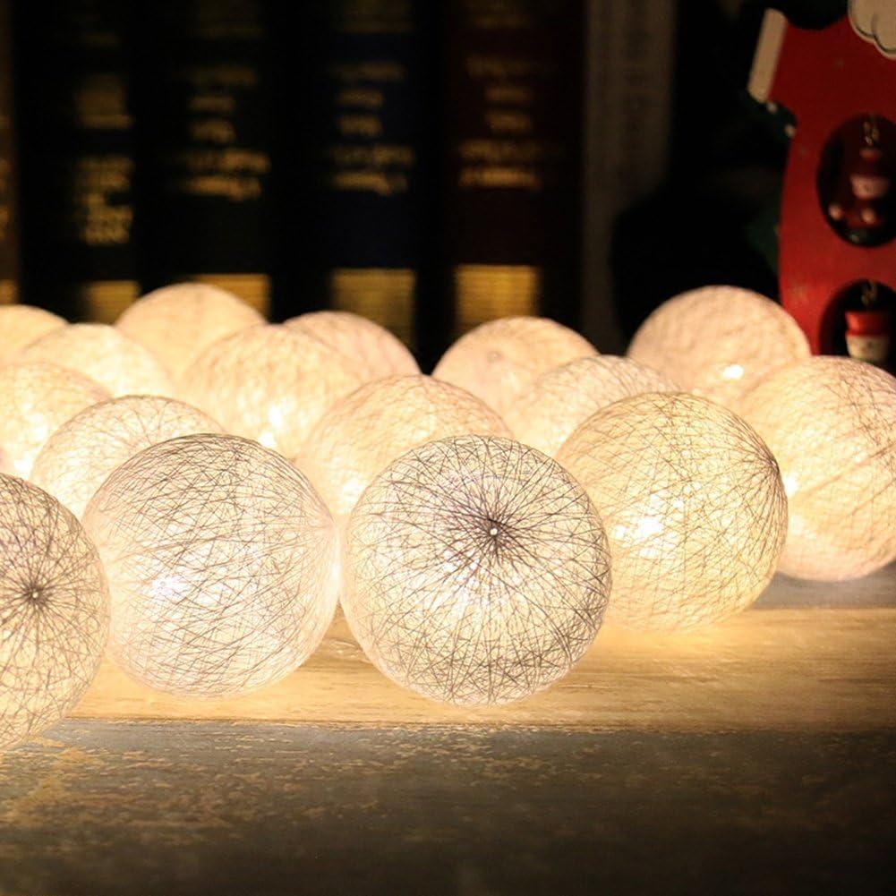 Cadena de Luces para Algodón Bola, Morbuy Decoración LED Blanco ...