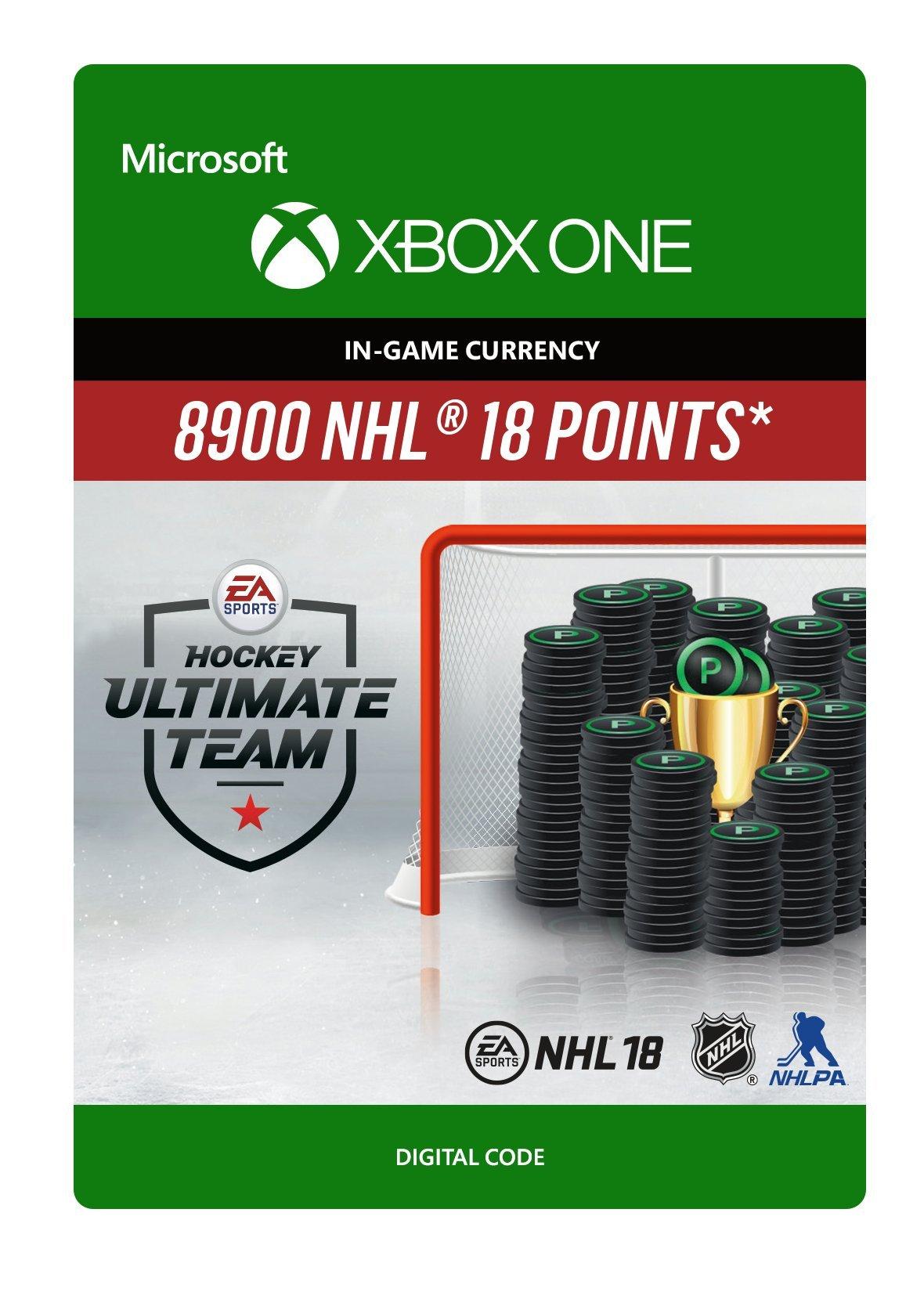 NHL 18 Ultimate Team NHL Points 8900 - Xbox One [Digital Code]