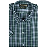 ACCOX Pure Cotton Half Sleeves Regular fit checkred Print Formal Shirt for Mens
