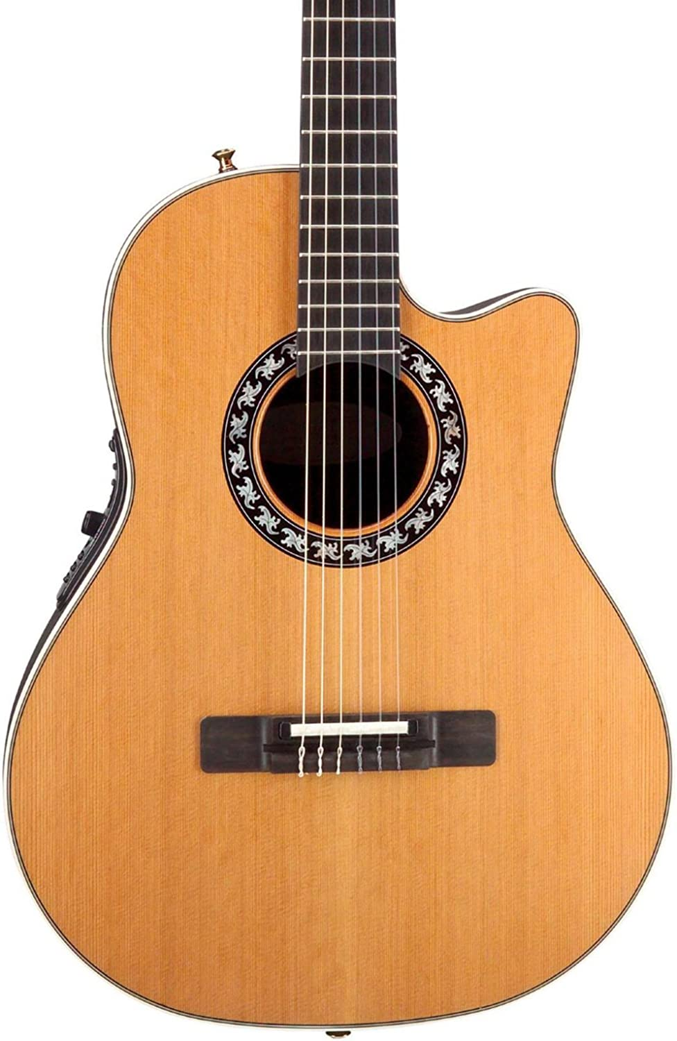 Ovation Applause Classical//Nylon String Acoustic Electric Guitar Cedar Natural