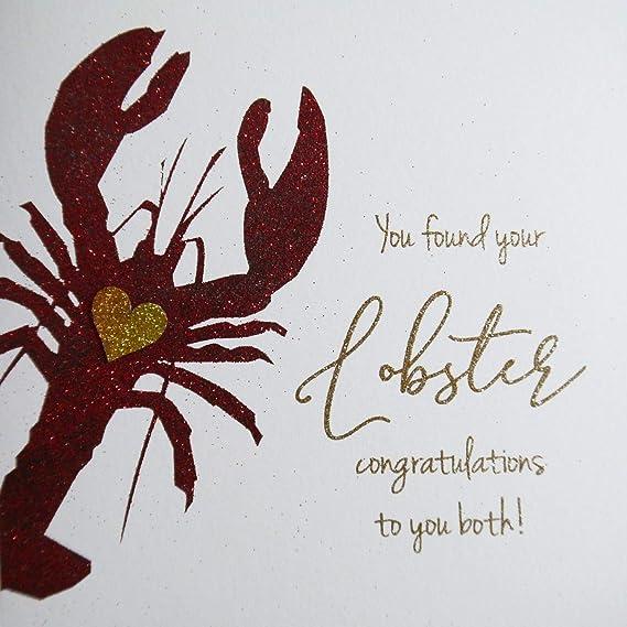 You Found Your Lobster Felicidades a ambos. Tarjeta con purpurina ...