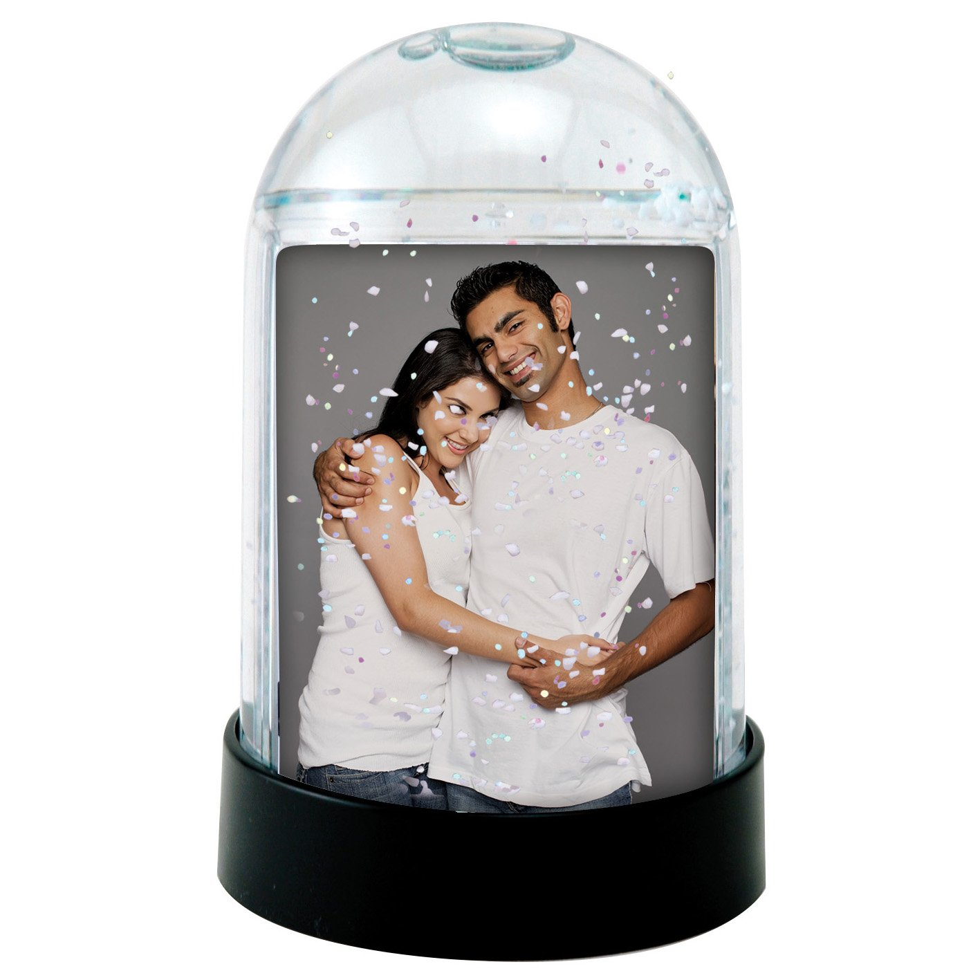 Neil Enterprises Inc 1.75 x 2.75 Clear Vertical Photo Snow Globe