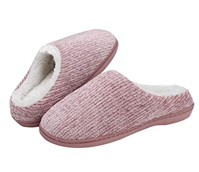 Ladies Slippers Mules Women/'s Black Cushioned Indoor Shoes New Sizes 3 4 5 6 7 8