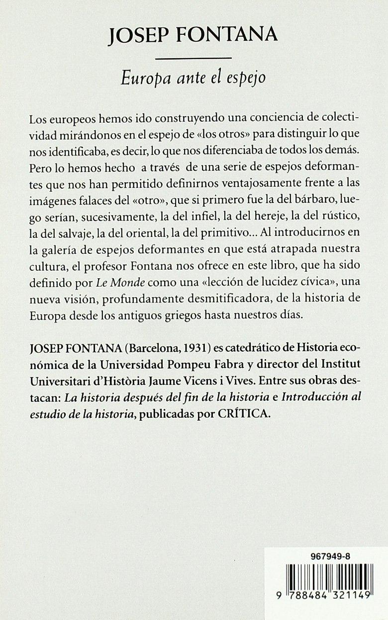 Europa ante el espejo (Biblioteca de Bolsillo): Amazon.es: Fontana ...