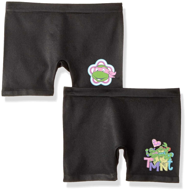 Teenage Mutant Ninja Turtles Girls' Big Nickelodeon Licensed Seamless 2 Pack, TMNT Play Short, M