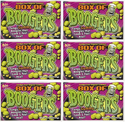 Candy Box of Boogers 3.3oz, Pack of 6