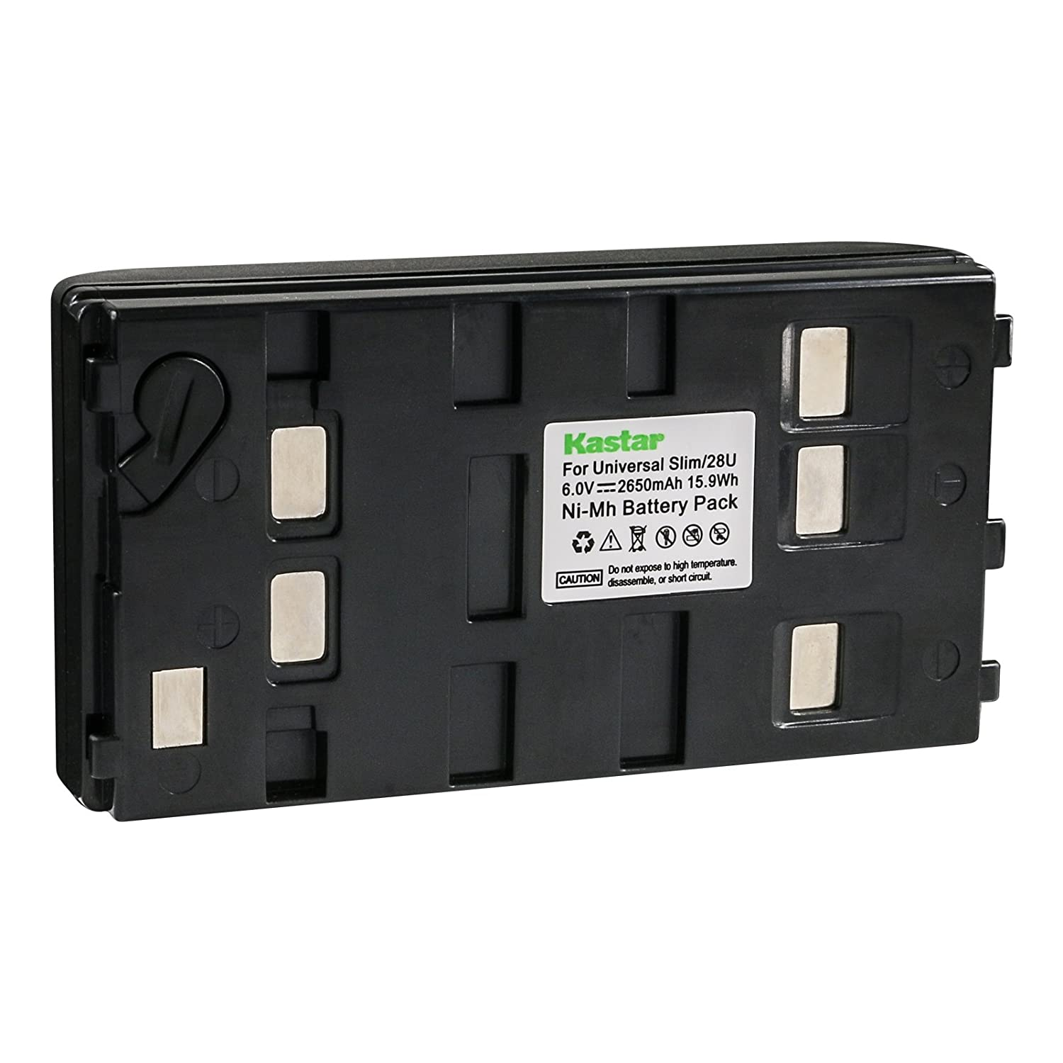 Amazon.com : Kastar 2650mA, 6V Replacement NiMH Battery for JVC BN-V11U  BN-V20U BN-V25U, Panasonic HHR-V20A HHR-V40A VW-VBS1 VW-VBS2 and Sony  NP-55H NP-77H ...