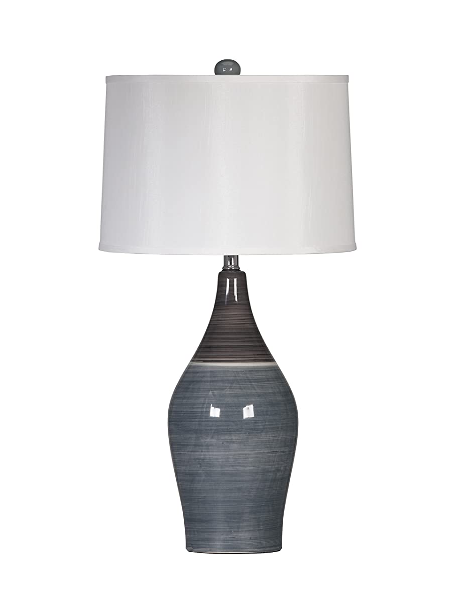 Ashley Furniture Signature Design -Niobe Ceramic Table Lamp - Set of 2 - Multicolored/Gray