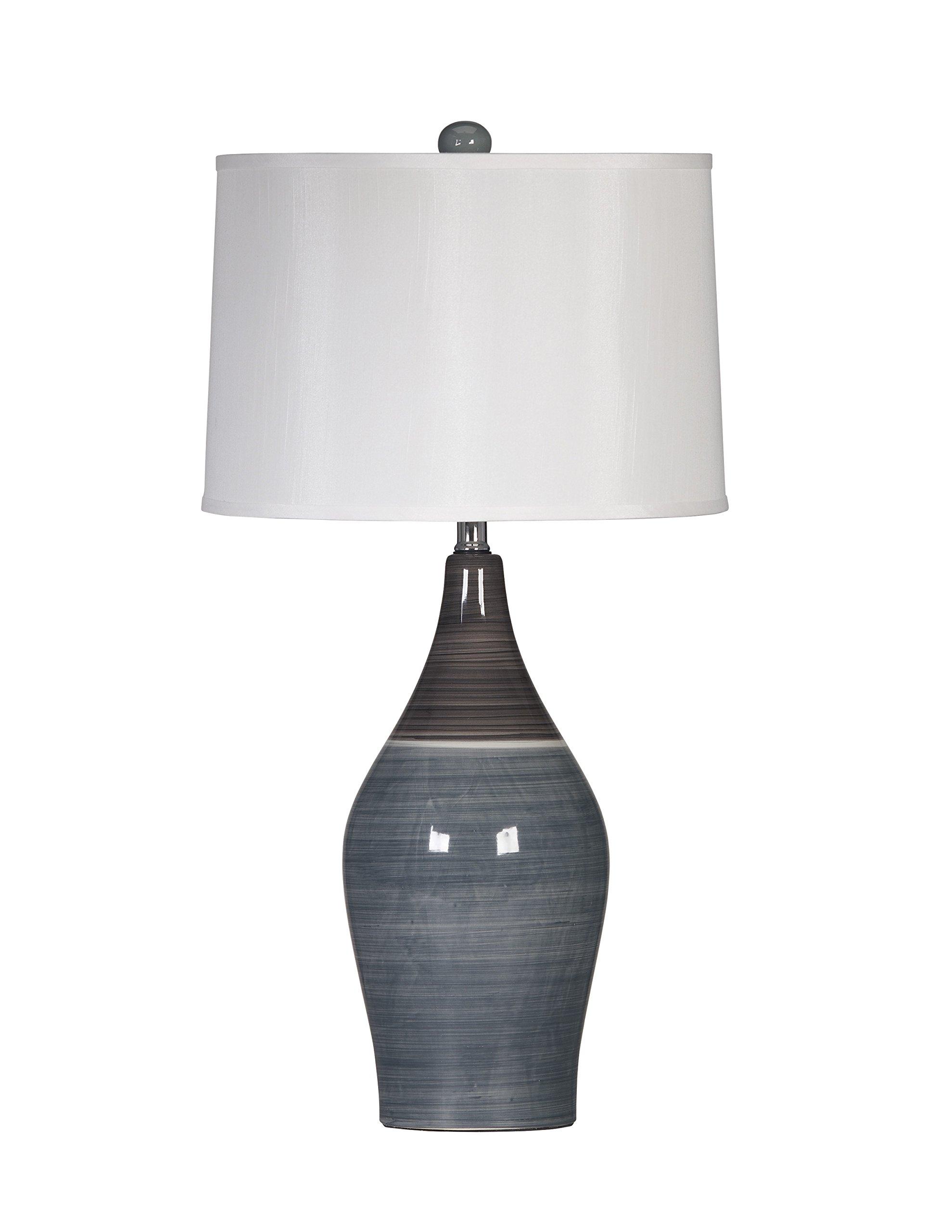 Ashley Furniture Signature Design -  Niobe Ceramic Table Lamp - Set of 2 - Multicolored/Gray by Signature Design by Ashley (Image #2)