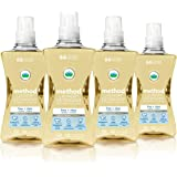 Method Concentrated Laundry Detergent, Naturally Derived, Free + Clear, 264 Loads, 53.5 Ounce per Bottle (Pack of 4)