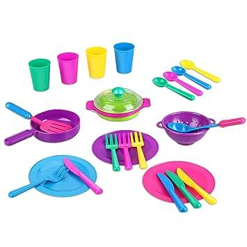 Kids Kitchen Accessories | Amazon Com Peradix Play Dishes Kitchen Accessories Utensils