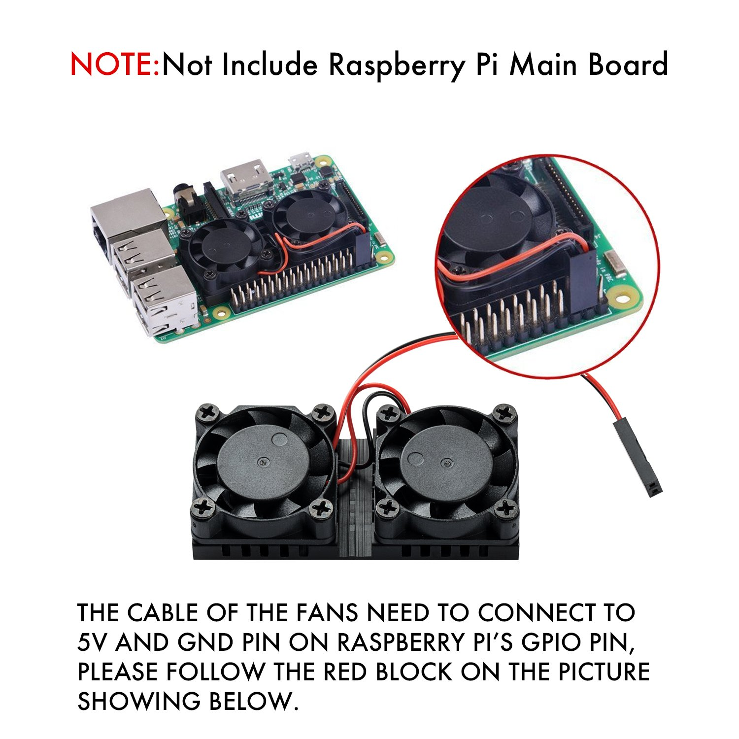 Raspberry Pi Cooling Fan And Pure Copper Heatsink Kit Wiring Diagram For 3 2 B Computers Accessories
