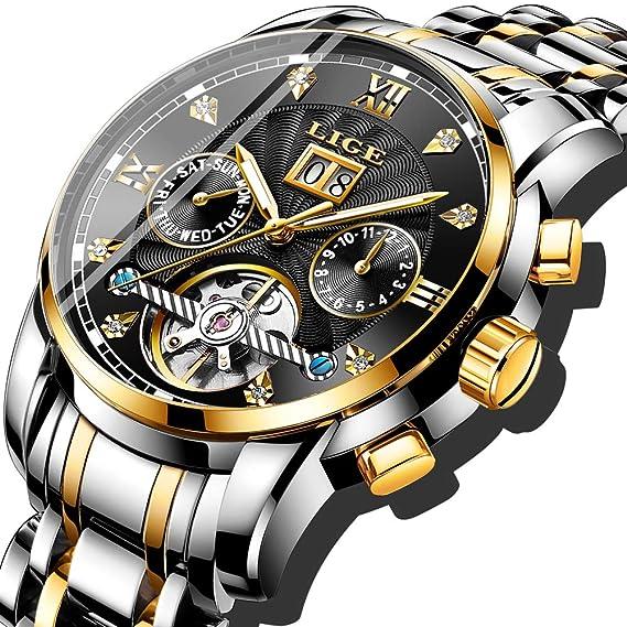 comprar estilo clásico de 2019 100% Calidad Relojes para Hombre Marca LIGE Moda automática Reloj de la máquina Hombres  a Prueba de Agua Fecha de Negocios Casual Reloj de Pulsera Hombre Oro ...