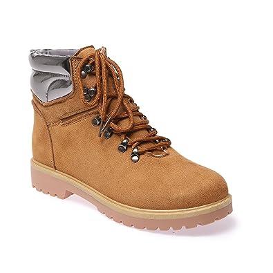 99b861828eaf2 La Modeuse - Bottines Rangers Femme  Amazon.fr  Chaussures et Sacs