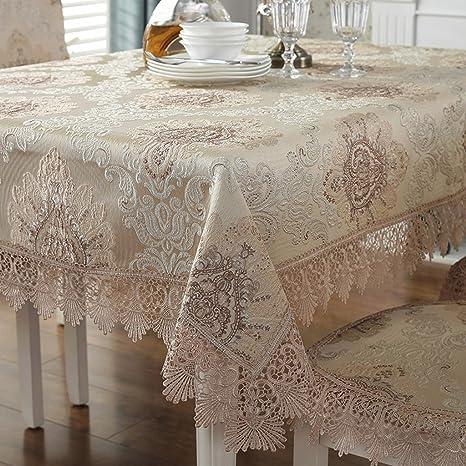 ZXCVBNM estilo europeo mantel mesa tela Rectangular salón casa de ...