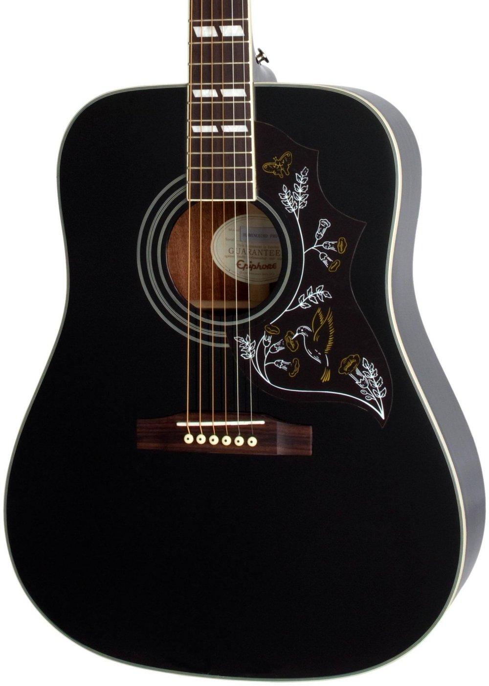 epiphone hummingbird pro acoustic electric guitar ebony ebay. Black Bedroom Furniture Sets. Home Design Ideas