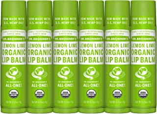 product image for Dr. Bronner's - Organic Lip Balm (Lemon Lime, .15 Ounce, 6-Pack)