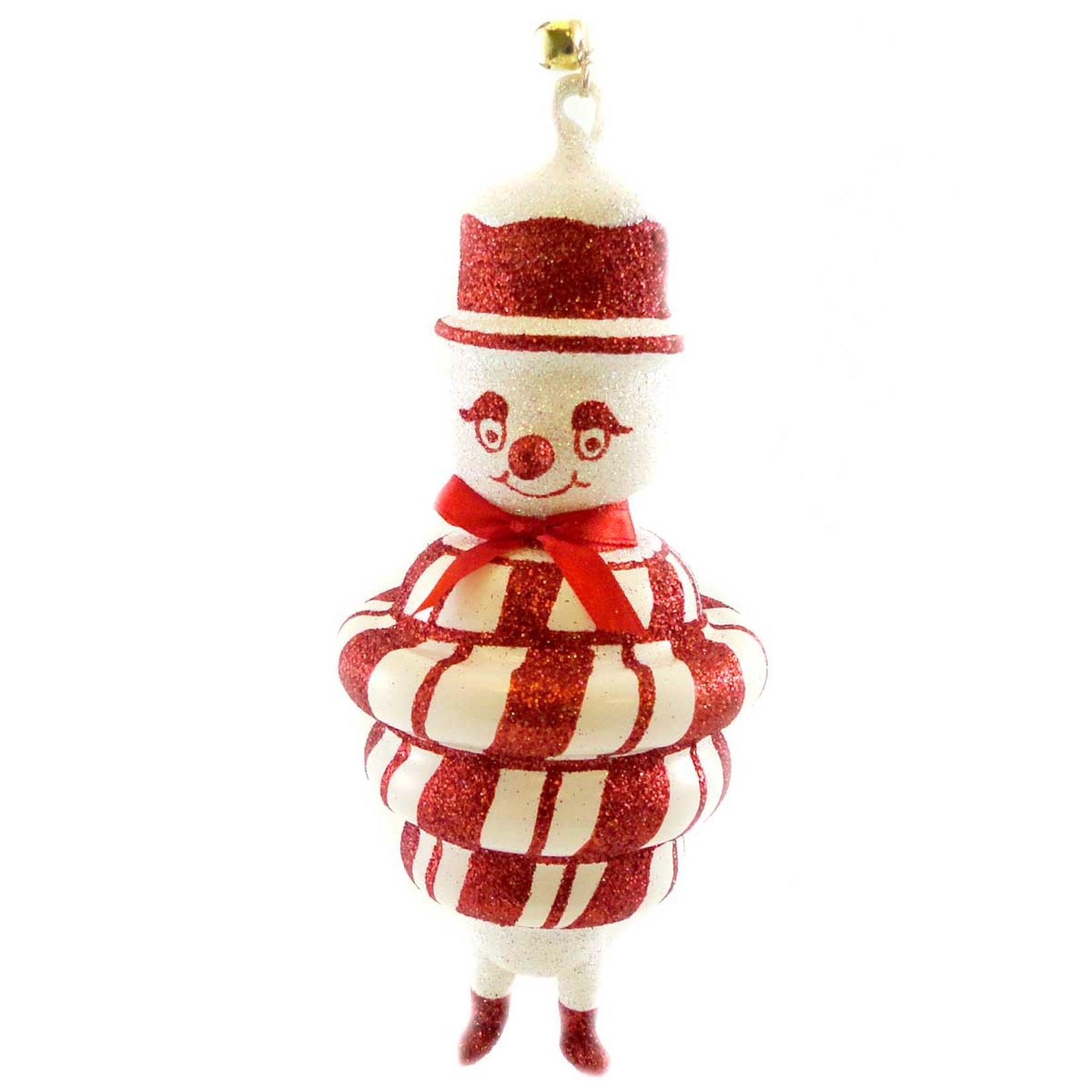 Jinglenog SNO-MINT Blown Glass Ornament Christmas Peppermint 80120