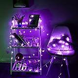 3M ledバッテリーフェアリーストリングライト イルミネーションライト led イルミネーション 電池式 クリスマス 飾りライト  5つ星のスター コンセント不要  クリスマスパーティーウェディング用 紫