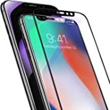 iPhone X Screen Protector Tempered Glass, TORRAS 9H Full Coverage Premium Anti-Blue Ray Scratch-Resistant Film for iPhone X Screen Guard, iPhone X Screen Film, Case Friendly