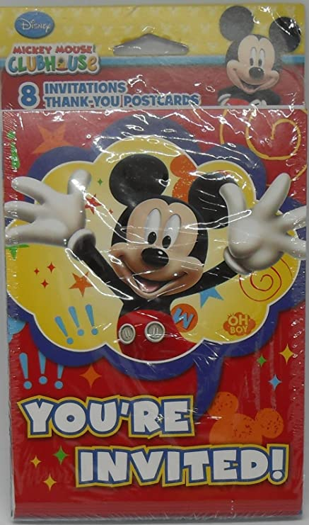 amazon com disney mickey mouse clubhouse party invitations mickey