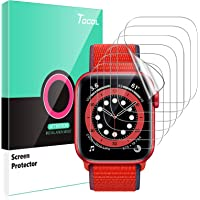 TOCOL 6-pack skärmskydd kompatibel med Apple watch serie 6/5/4/SE 40 mm HD klar repbeständig inga bubblor enkel…