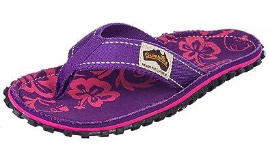 Gumbies Flip Flops Damen, Purple Hibiscus, Größe 40
