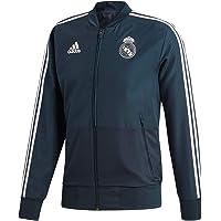 adidas Chaqueta de chándal para hombre del Real Madrid, Hombre, Chaqueta deportiva, CW8638, Techo, negro y blanco…
