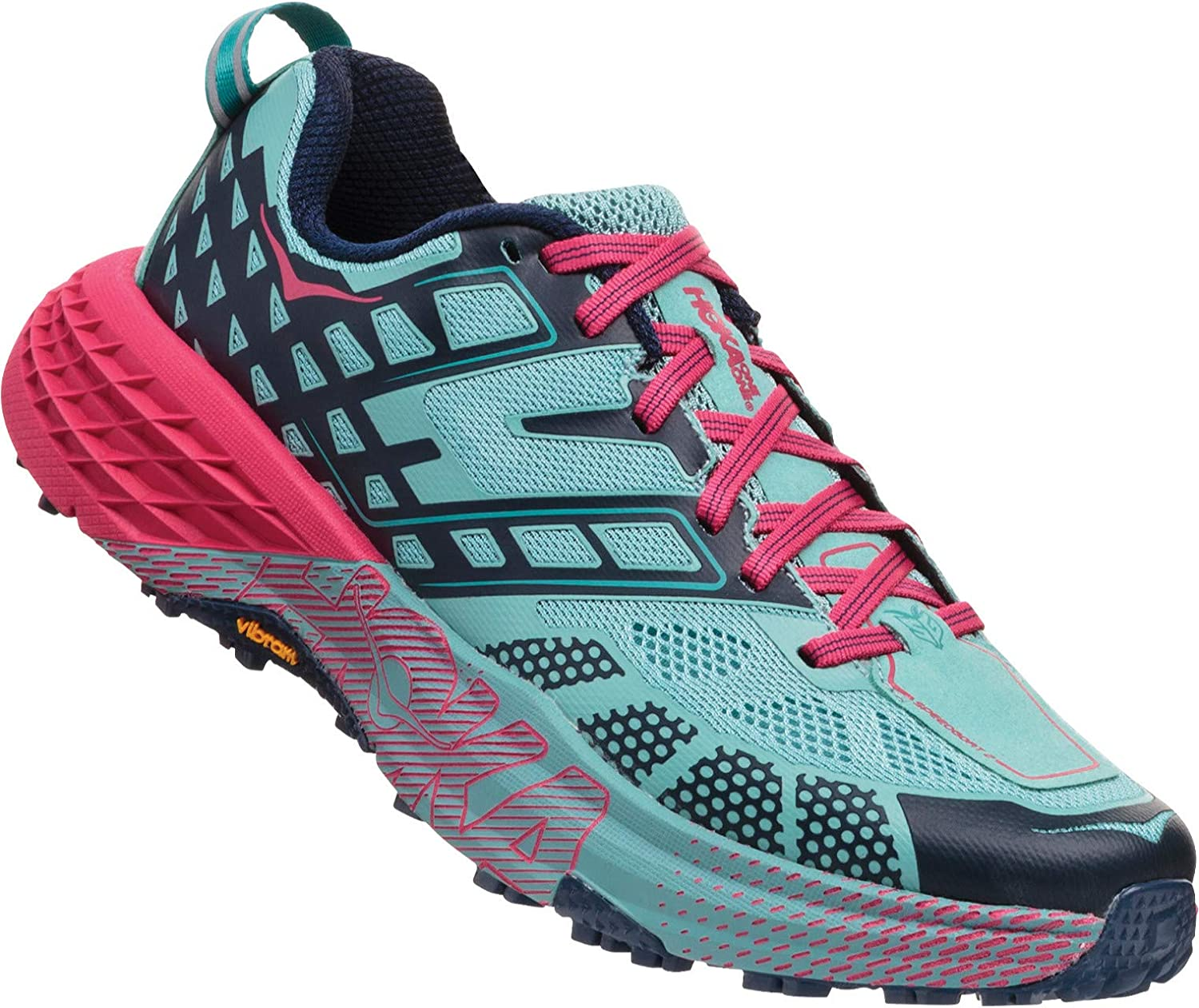 HOKA ONE ONE Womens Speedgoat 2 Trail Running Shoe (7.5 B US, Canton/Dress Blues): Amazon.es: Zapatos y complementos
