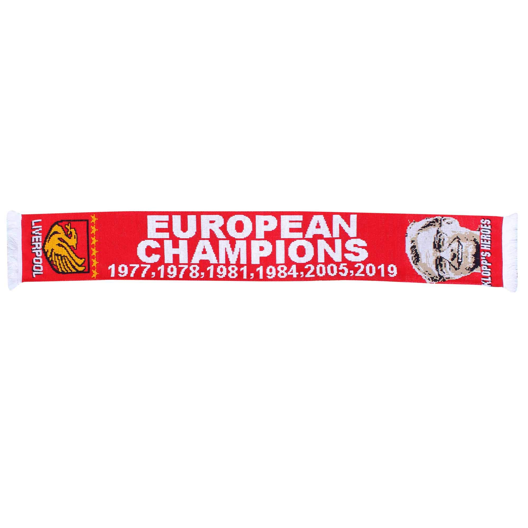 Liverpool 2019 (Madrid) Champions League Winners Soccer Fans Scarf (100% Acrylic)