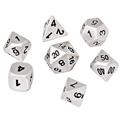 Blacksmith Craft Dice DND Dice Set - Metal Polyhedral Dungeons and Dragons Dice Sets with Dice Bag for RPG Gaming Including D20: Toys & Games