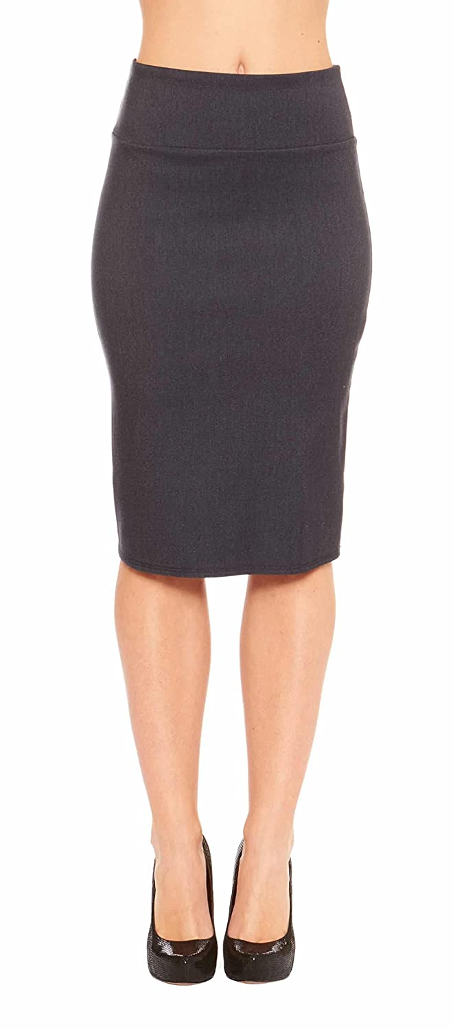 Red Hanger Women's Fitted Bodycon Business Casual Pencil Skirt - Made in USA PS-SK1