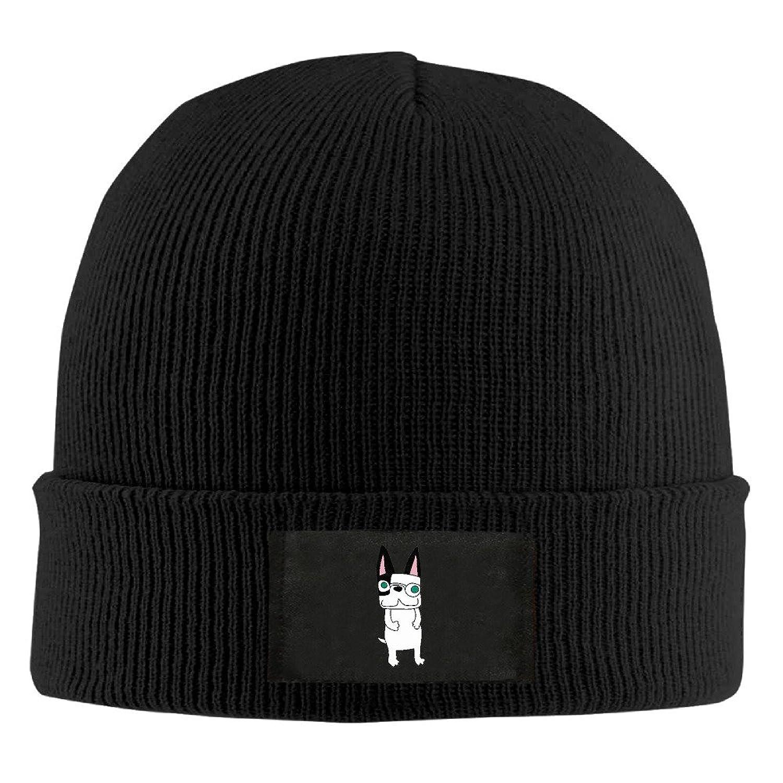YFLLAY A Cute Dog Knit Cap Woolen Hat For Unisex