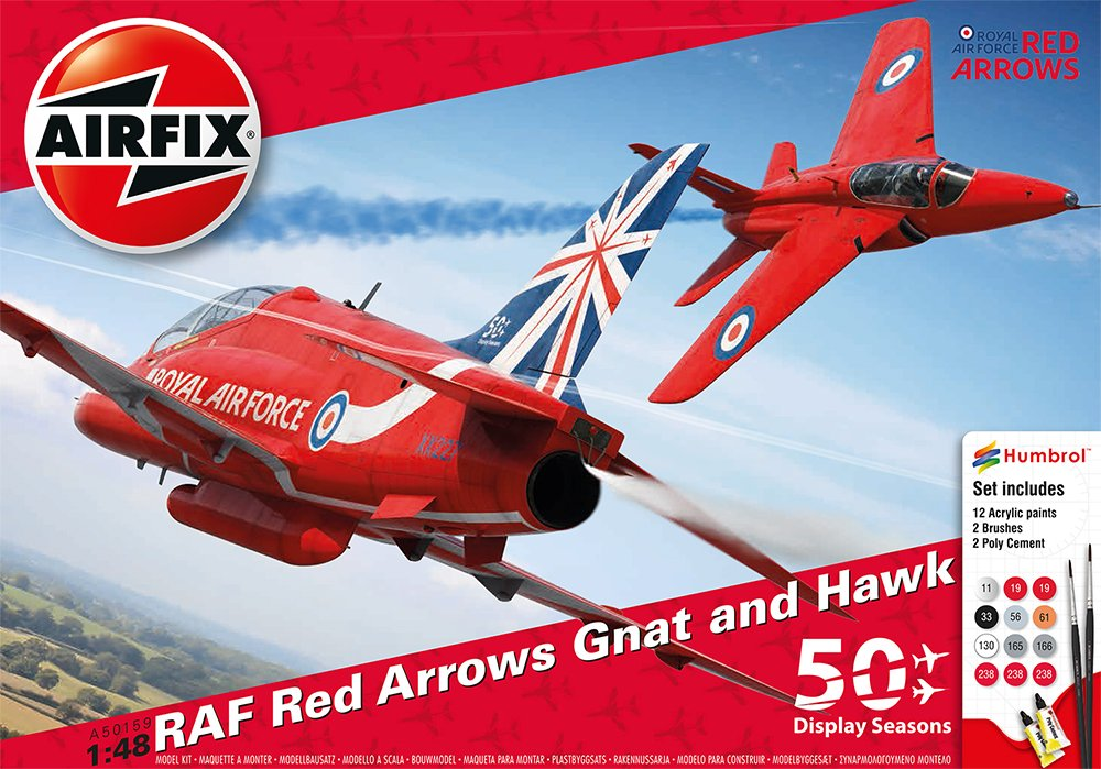 Airfix A50159 - Modellbausatz - ROT Arrows 50TH Display Season Gift Set