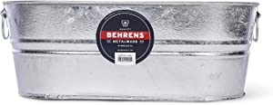Behrens 0-OV 5-1/2-Gallon Oval Steel Tub